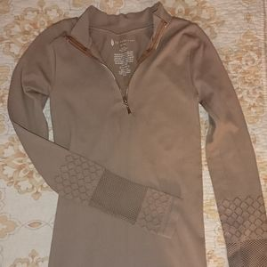 Free People Movement Slay Zip Pullover M/L Taupe
